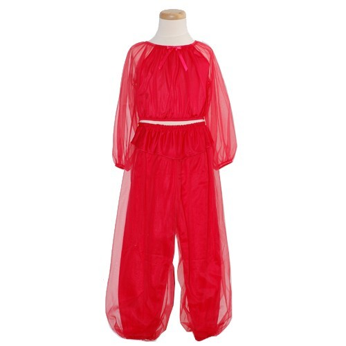 Laura Dare Little Girls Sheer Red Genie Pajama 2 Piece Set Size 6X at Sears.com