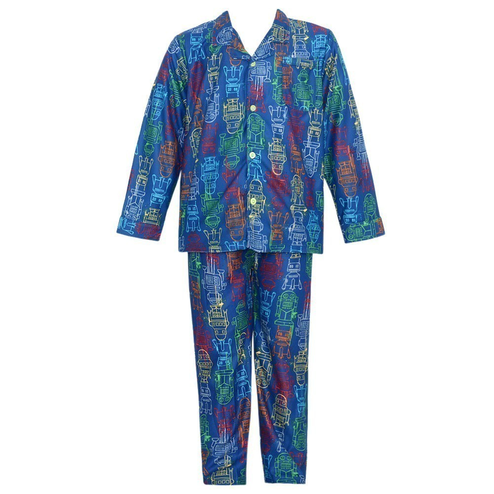 Consolidated Clothiers Baby Boys 24M Cute Blue Robot 2pc Pajama Sleepwear Set at Sears.com