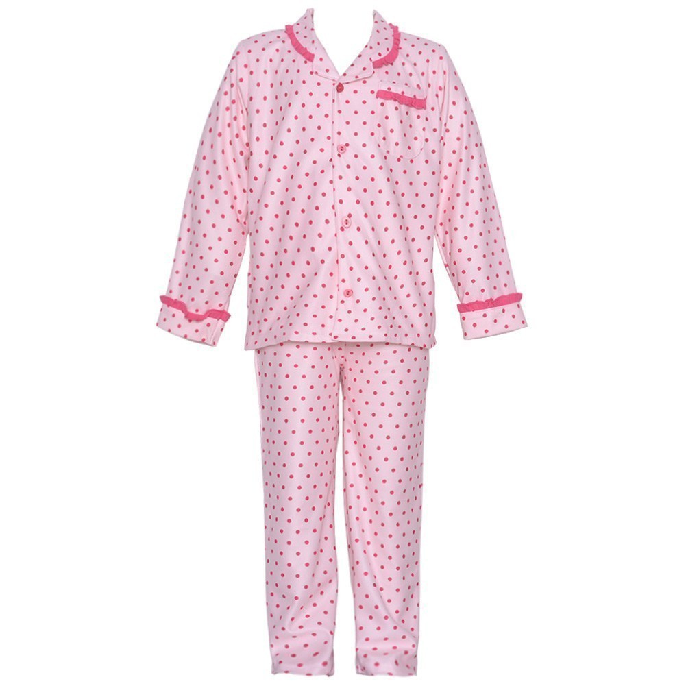 Consolidated Clothiers Absorba 2 Piece Pink Polka Dot Flannel Pajamas Sleepwear Set Baby Girl 18M at Sears.com