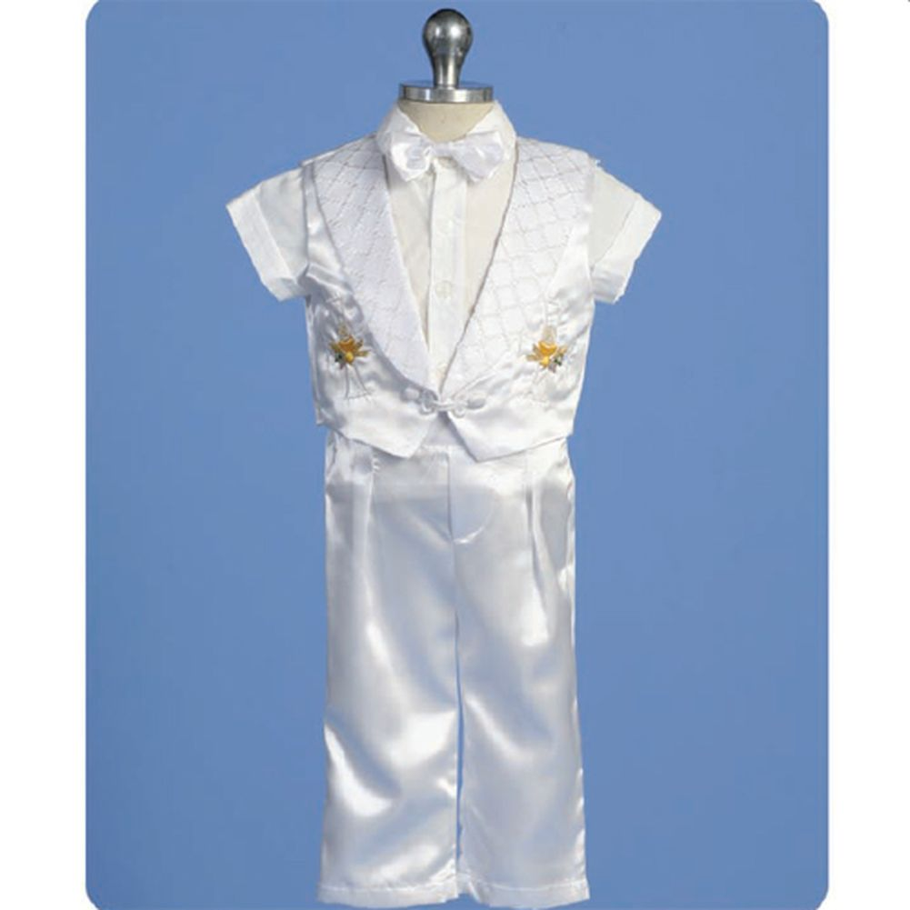 Angels Garment Baby Boys White Pants Set Christening Outfit 3-6M at Sears.com