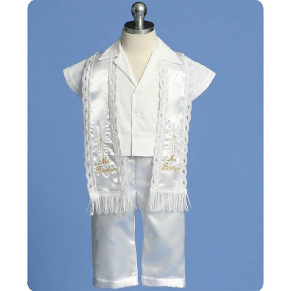 Angels Garment Baby Boys White Pants Stole Christening Outfit Set 3-6M at Sears.com