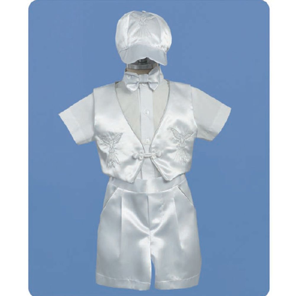 Angels Garment Baby Boys White Shorts Cap Christening Outfit Set 3-6M at Sears.com