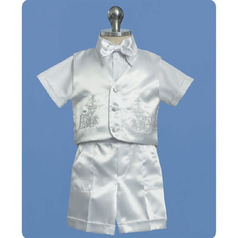 Angels Garment Baby Boys White Shorts Christening Outfit Set 12-18M at Sears.com