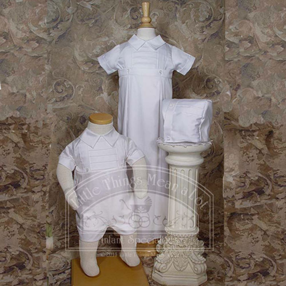 Little Things Mean a Lot Baby Boys Cute White Convertible Baptism Christening Outfit Set 6M at Sears.com