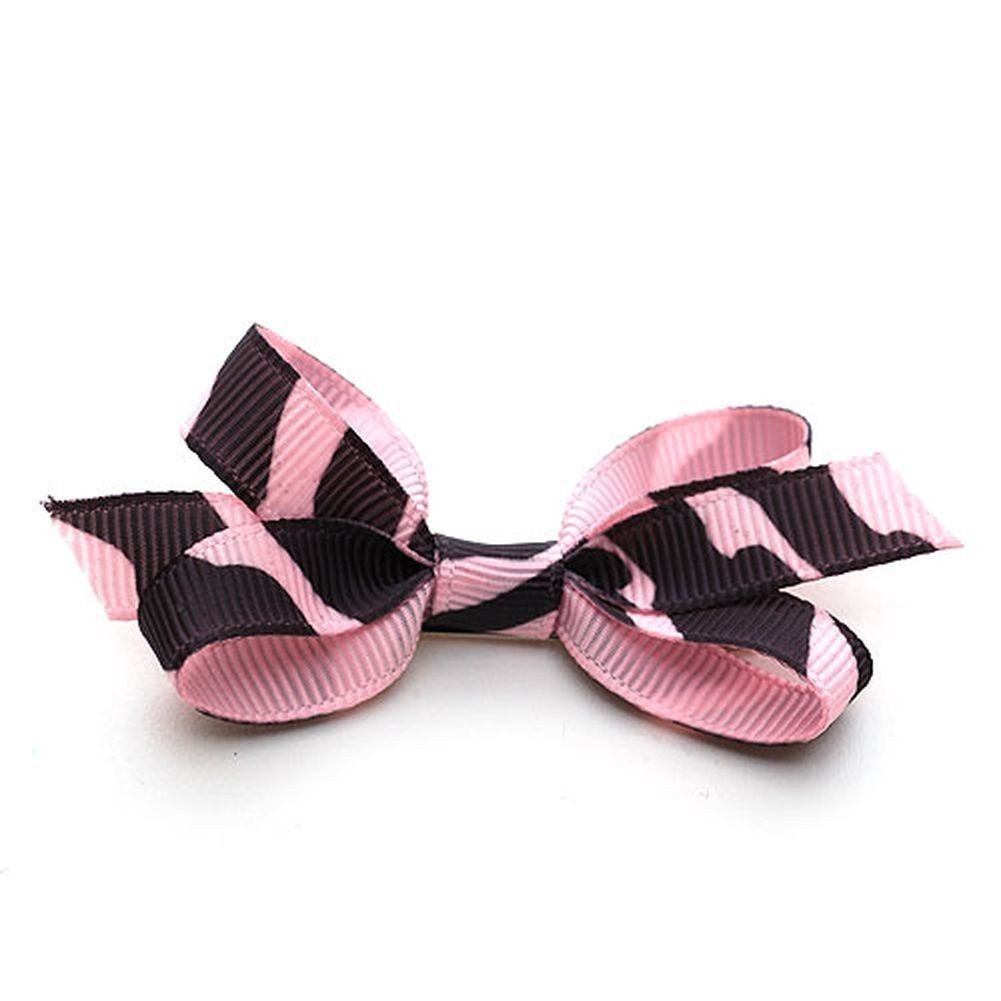 Reflectionz Girls Accessory Pink Grosgrain Zebra Hair Clippie Bow at Sears.com