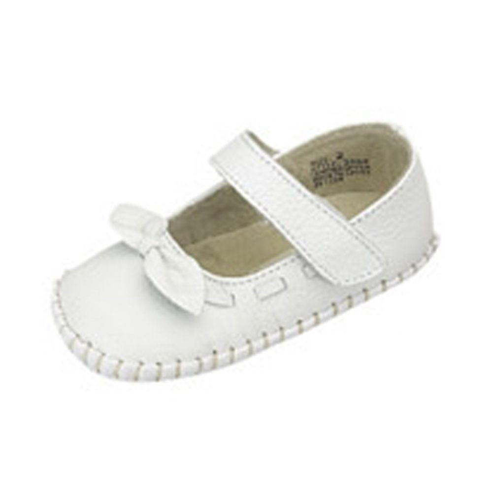 IM Link Infant Baby Girls White Moccasin Mary Jane Summer Shoes Size 4 at Sears.com