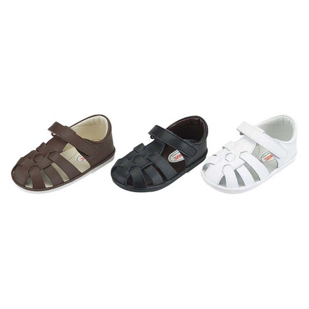 IM Link Baby Girls Brown Fisherman Style Velcro Summer Sandals Size 4 at Sears.com