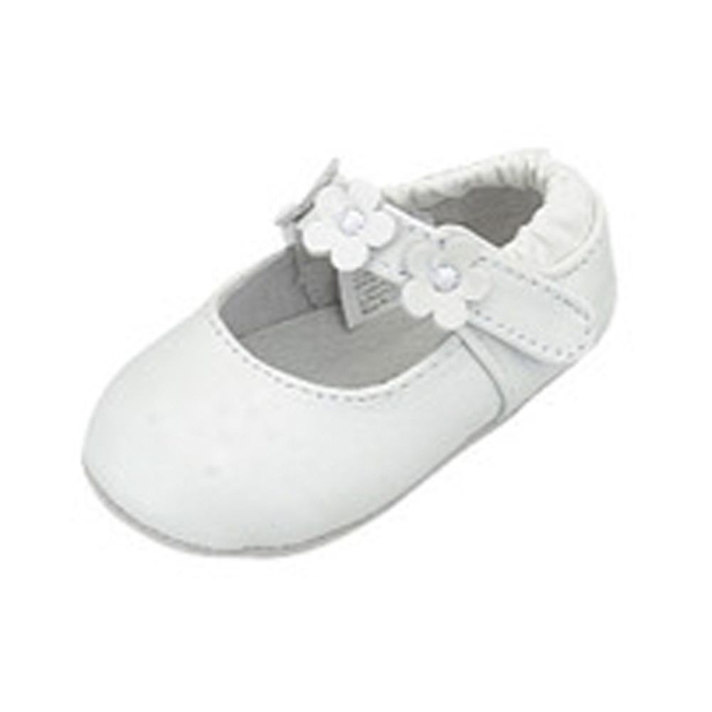IM Link Infant Baby Girls White Flower Ballerina Style Summer Shoes Size 4 at Sears.com