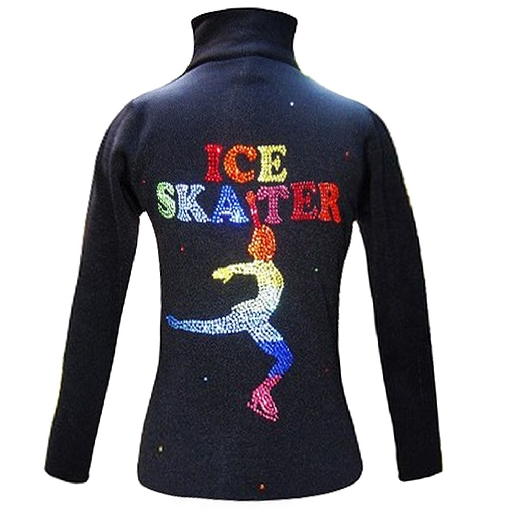 Ice Fire Skate Wear Black Jacket Rainbow Ice Skater Design Girl 10-12 at Sears.com