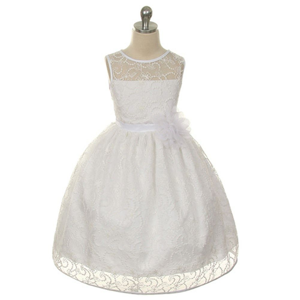 Kids Dream Black Lace White Special Occasion Girl Dress 6 at Sears.com