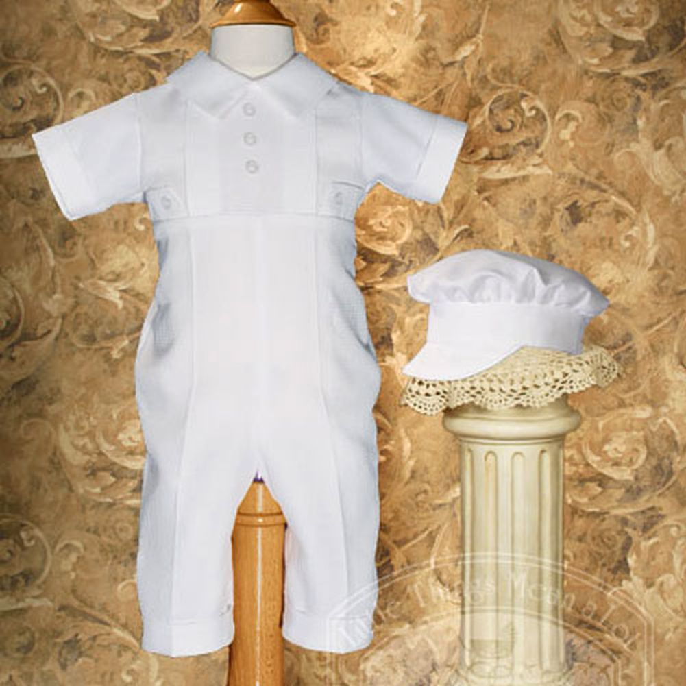 Little Things Mean a Lot Baby Boys White Classic Christening Outfit and Hat Set 12M at Sears.com