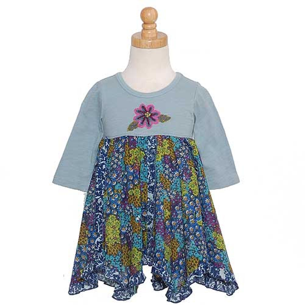 Mimi and Maggie Blue Patterned Hanky Hem Tunic Shirt Little Girls Sz 6 at Sears.com