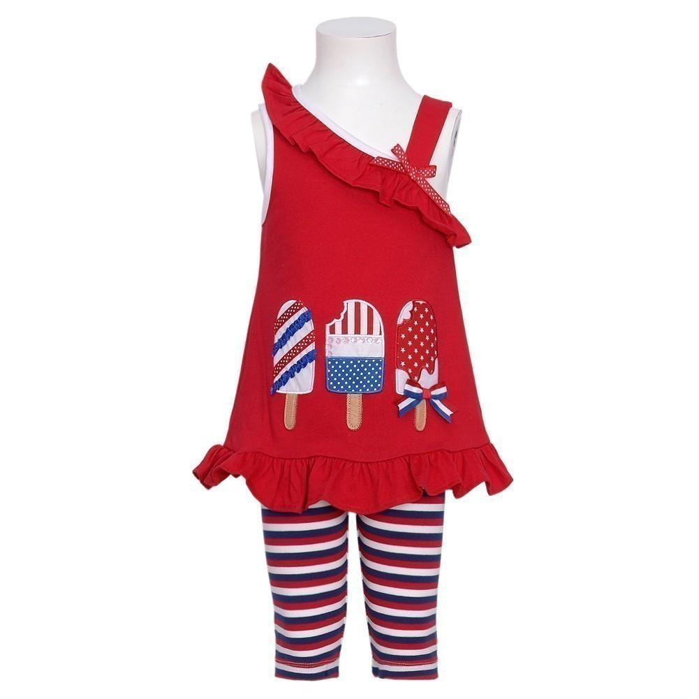 Rare Editions Baby Girl Red Patriotic Popsicle Tank 2 Piece Outfit 12M at Sears.com