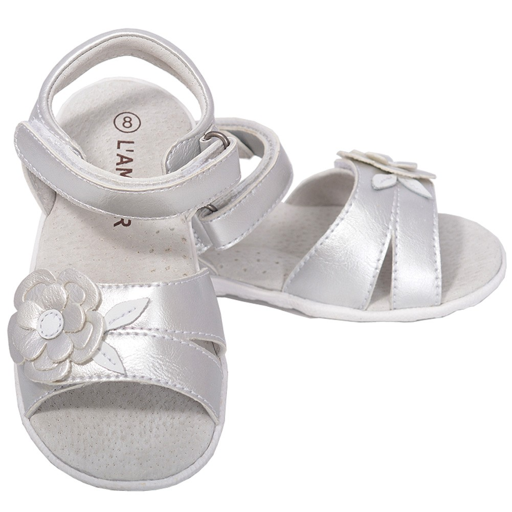 L'Amour Baby Girls 4 Fuchsia Flower Spring Summer Sandals Shoes at Sears.com