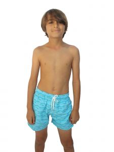 Azul Big Boys Aqua Wander Fish Print Drawstring Tie Swimwear Shorts 8-14