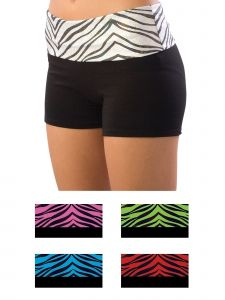 Pizzazz Girls Multi Color Roll-Down Waist Shorts Youth 2-16