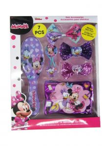 Disney Girls Multi Color Minnie Mouse Inspired Hair Accessory 7 Pc Set