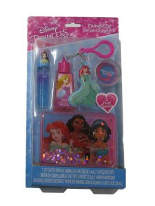 Disney Girls Multi Color Princess Water Container Accessories Set