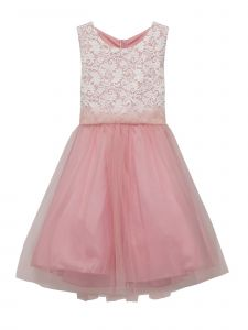 Kids Dream Big Girls Dusty Rose Lace Plus Size Junior Bridesmaid Dress 14.5-20.5