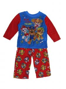 Nickelodeon Little Boys Red Blue Paw Patrol Crew Neck 2 Pc Sleepwear Set 2-4T