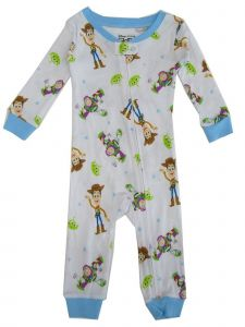 Disney Baby Boys White Toy Story Character Print Footless Sleeper 12-24M