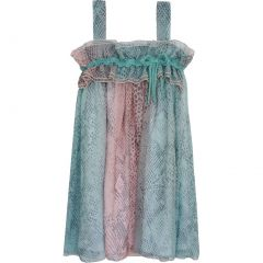Isobella & Chloe Big Girls Turquoise Monroe Empire Waist Party Dress 14