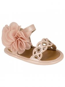 Baby Deer Baby Girls Multi Color Shimmer Amber Cutout 3D Flower Sandals 0-4 Baby