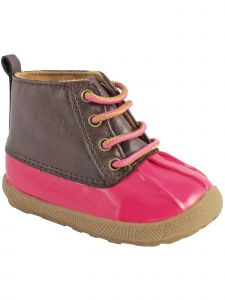Baby Deer Girls Multi Color PU Lace-Up First Steps Duck Boots 2 Baby-12 Kids