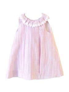 Coquelicot Girls Pink Spanish Lace Trim Ios Gasa Flame Dress 6M-2T