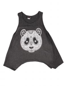 Lori Jane Big Girls Charcoal Graphic Tank Top 6-16