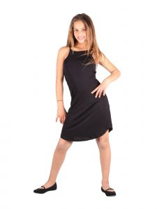 Lori & Jane Big Girls Black Open Back Sleeveless Trendy Casual Dress 10-16