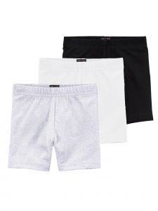 Lori & Jane Big Girls Black White Gray 3 Pc Shorts 8-14