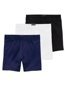 Lori & Jane Big Girls Black White Navy 3 Pc Shorts 8-14