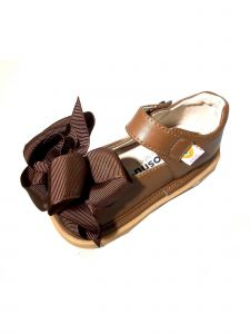 Mooshu Trainers Girls Chocolate Ready Set Mary Jane Squeaky Shoes 3-4 Baby