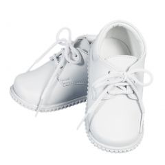 Angels Garment Boys White Leather Lace Up Closure Dress Shoes 2 Baby-5Toddler