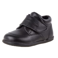 Smart Step Boys Black Closure Wide Width Walking Shoes 3 Baby-8 Toddler