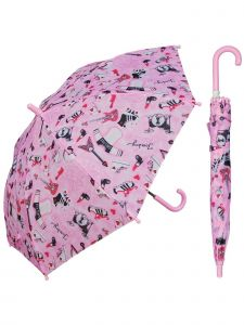 "Rainstoppers Girls Pink Girls Rule Print 32"" Arc Manual Open Umbrella"