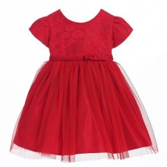 Sweet Kids Baby Girls Red Lace Sleeve Ballerina Christmas dress 6-24M