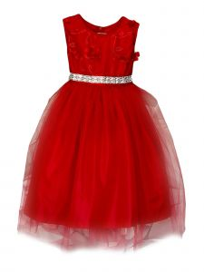 Princess Kloset Girls Multi-Color Floral Lace Tulle Christmas Dress 2-12