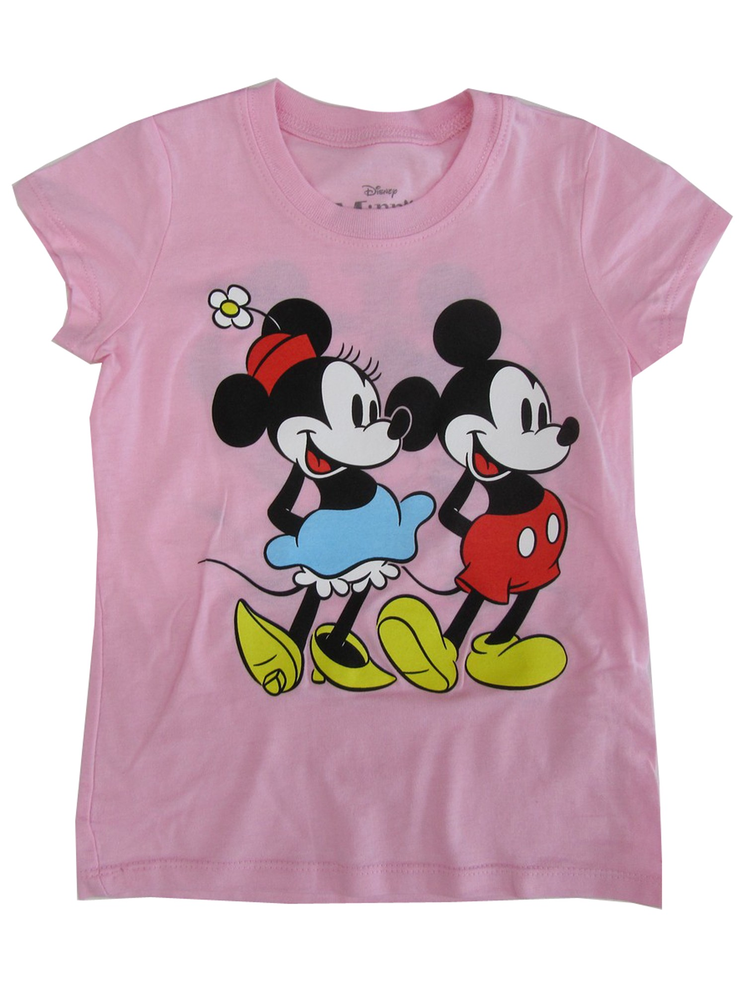 9417833ce2d3d Disney Big Girls Pink Minnie Mickey Mouse Print Short Sleeve T-Shirt 7-16 -  Sophia's Style