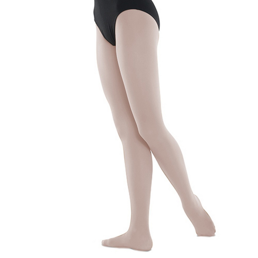 20988db372b75 Danshuz Big Girls Theatrical Pink Stretchy Nylon-Micro Spandex Tights 6X-14  - Sophia's Style