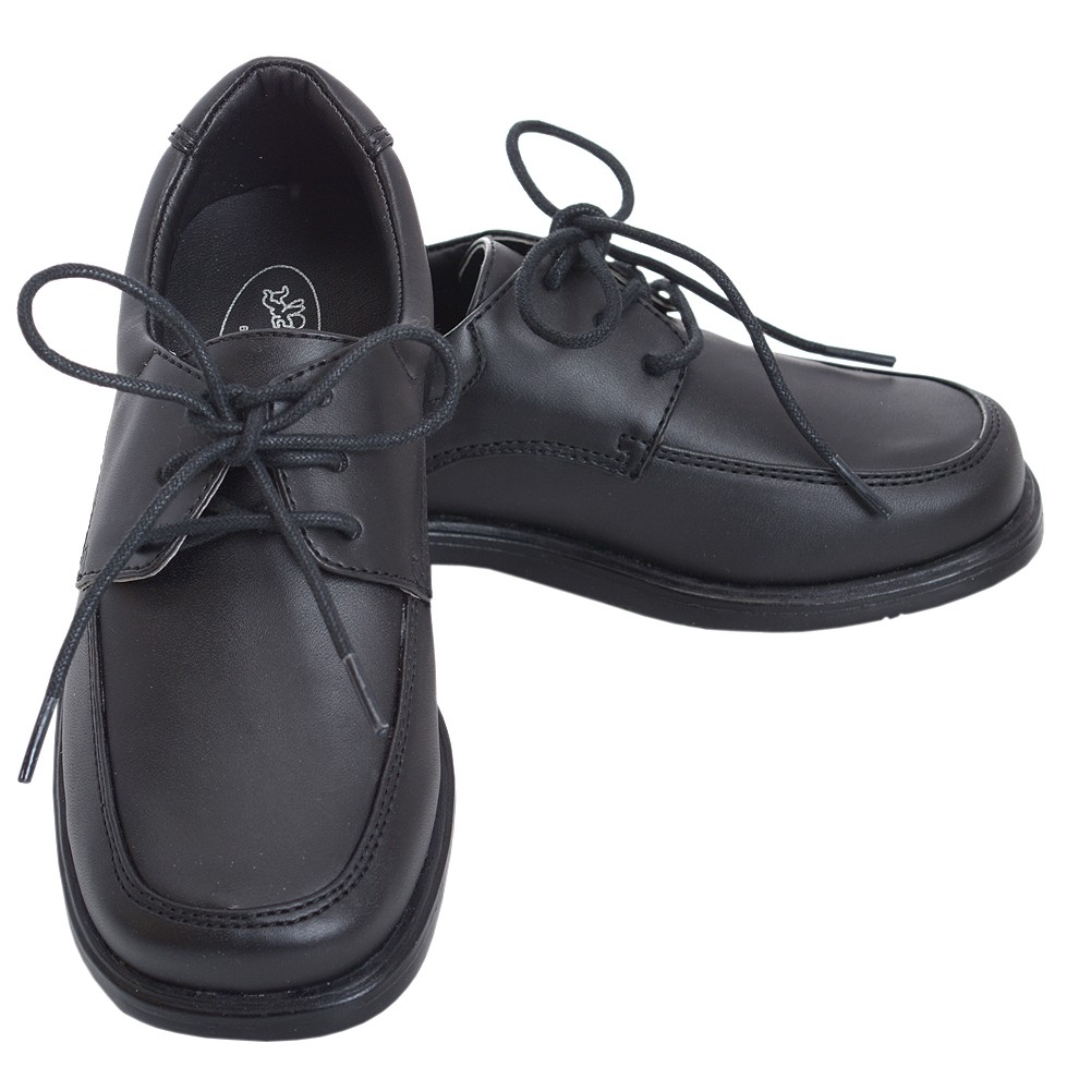 2b3a0cbaed1bc Angel Black Lace Up Oxford Rubber Sole Christening Shoe Little Boy 11 -  Sophia's Style