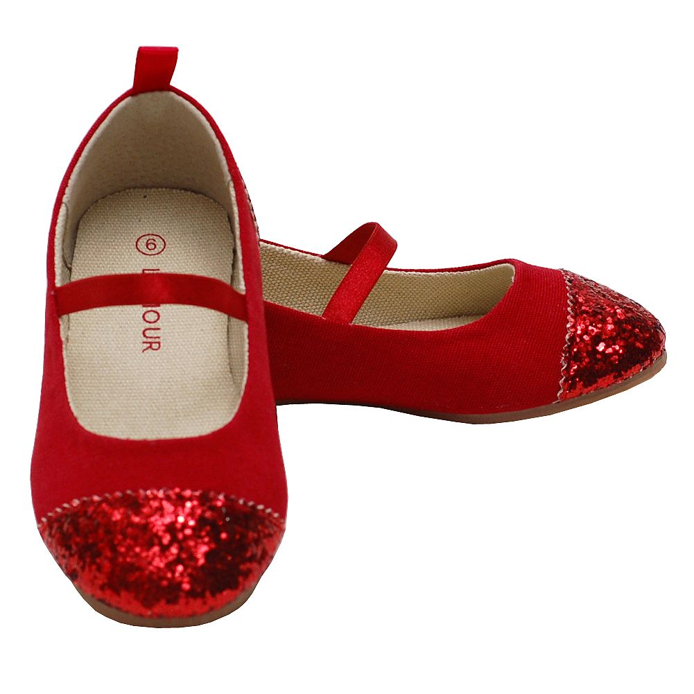L Amour Red Glitter Mary Jane Shoes Toddler Girl 5-Little Girl 4 - Sophia s  Style 4f2339390