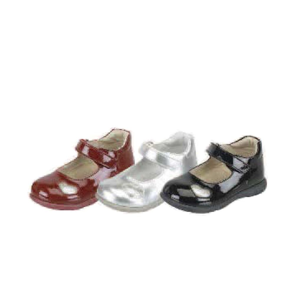 Mary Jane Little Girls Patent Leather Strap Heart Shoe Size 4-9 - Sophia's Style