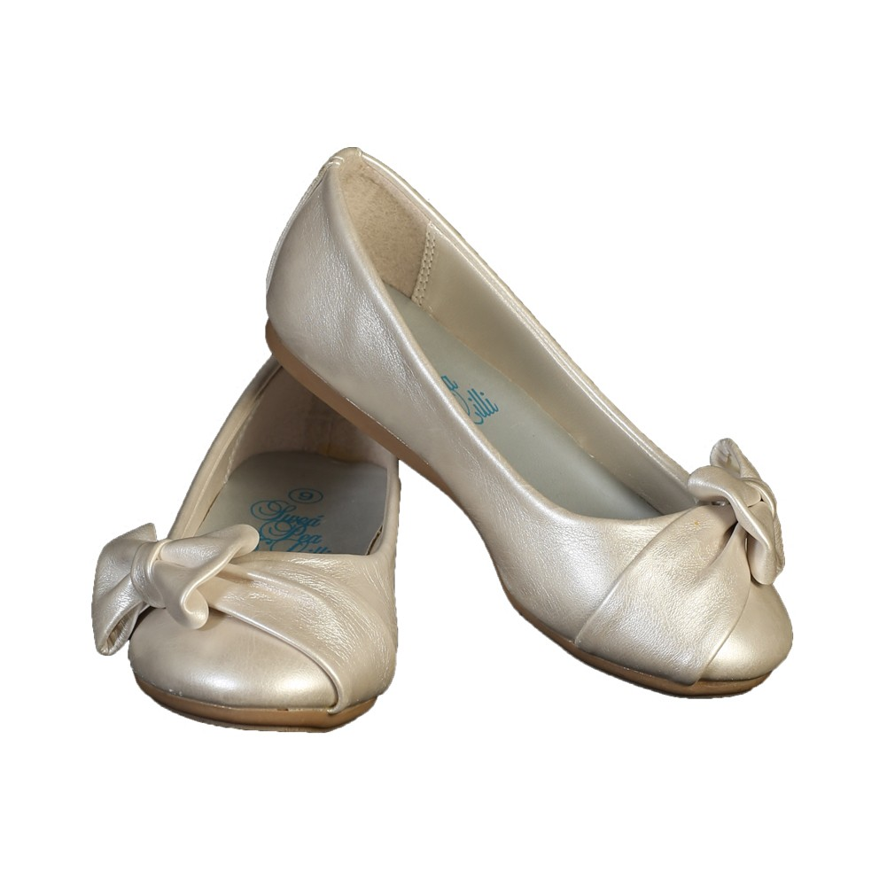 Lito Big Girls Ivory Bow June Special Occasion Dress Shoes 4 Kids -  Sophia s Style 9899410dba5c