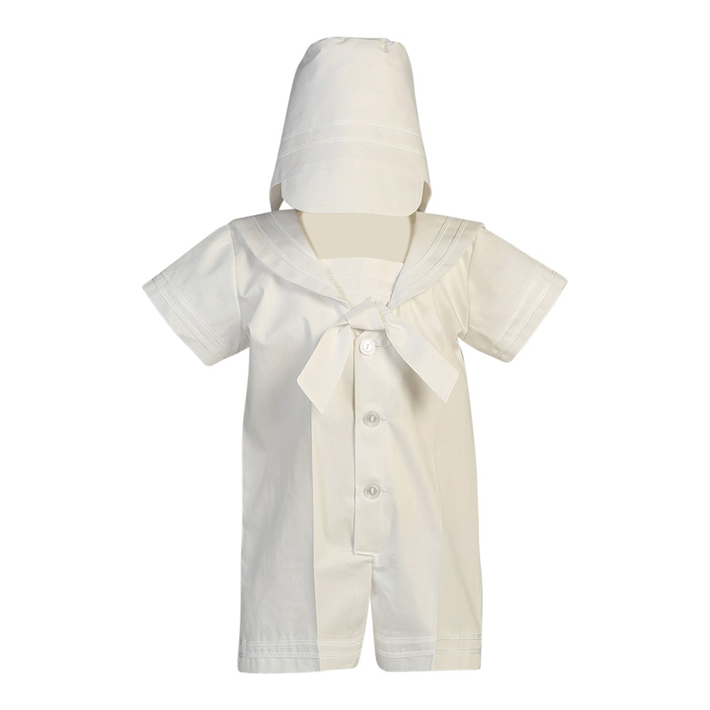 aa7b4d3089c0b Lito Baby Boys White Poly Cotton Sailor Outfit Baptism Easter Set 0-24M -  Sophia's Style