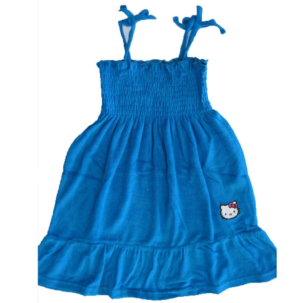bc56481d753ff Hello Kitty Little Girls Royal Blue Embroidered Towel Dress 4-6X - Sophia s  Style