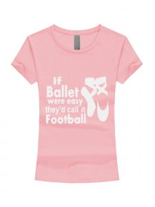 Little Girls Pink White Glitter If Ballet Were Easy Short Sleeve T-Shirt 3-6X