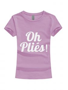 Little Girls Lilac White Glitter OH Plies Short Sleeve T-Shirt 3-6X