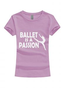 Big Girls Lilac White Glitter Ballet Is A Passion T-Shirt 7-16
